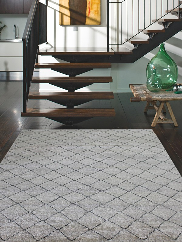 Nordic Diamond Rug - Grey